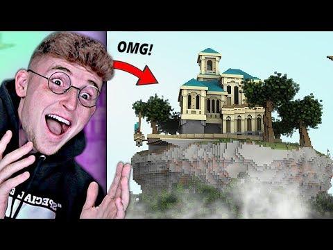 I built a $10,000,000 MANSION In Minecraft For PEWDIEPIE