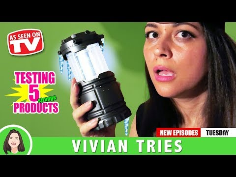 TACLIGHT LANTERN | 5 STRANGE AS SEEN ON TV PRODUCTS! |  VIVIAN TRIES
