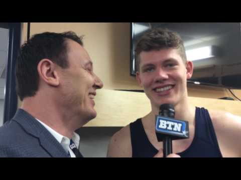 Jess Settles Talks with Moe Wagner Following the Illinois Game