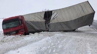 видео Видео аварии грузовиков 2014 года