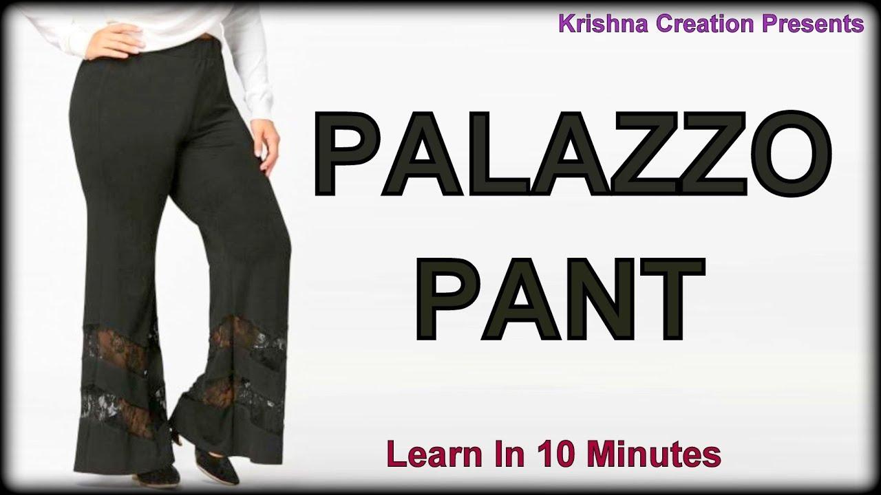 Palazzo Pant Step By Step Method Krishna Creation Youtube