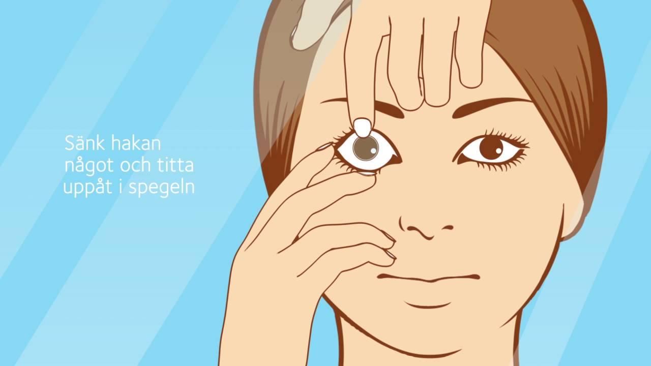 ta ut kontaktlinser