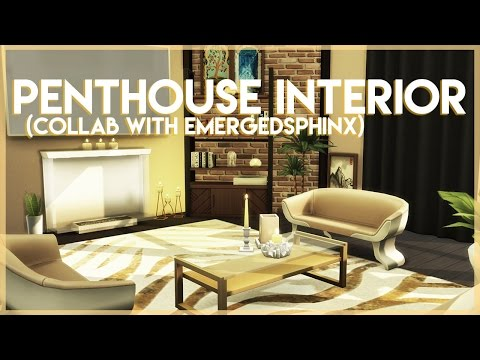 Sims 4 Penthouse Build - Interior (Collab with EmergedSphinx)