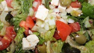 HOW TO MAKE GREEK SALAD, ŠOPSKÝ ŠALÁT, VEGETARIAN FOOD