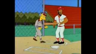 Mr Burns showing Ozzie Smith how to bunt