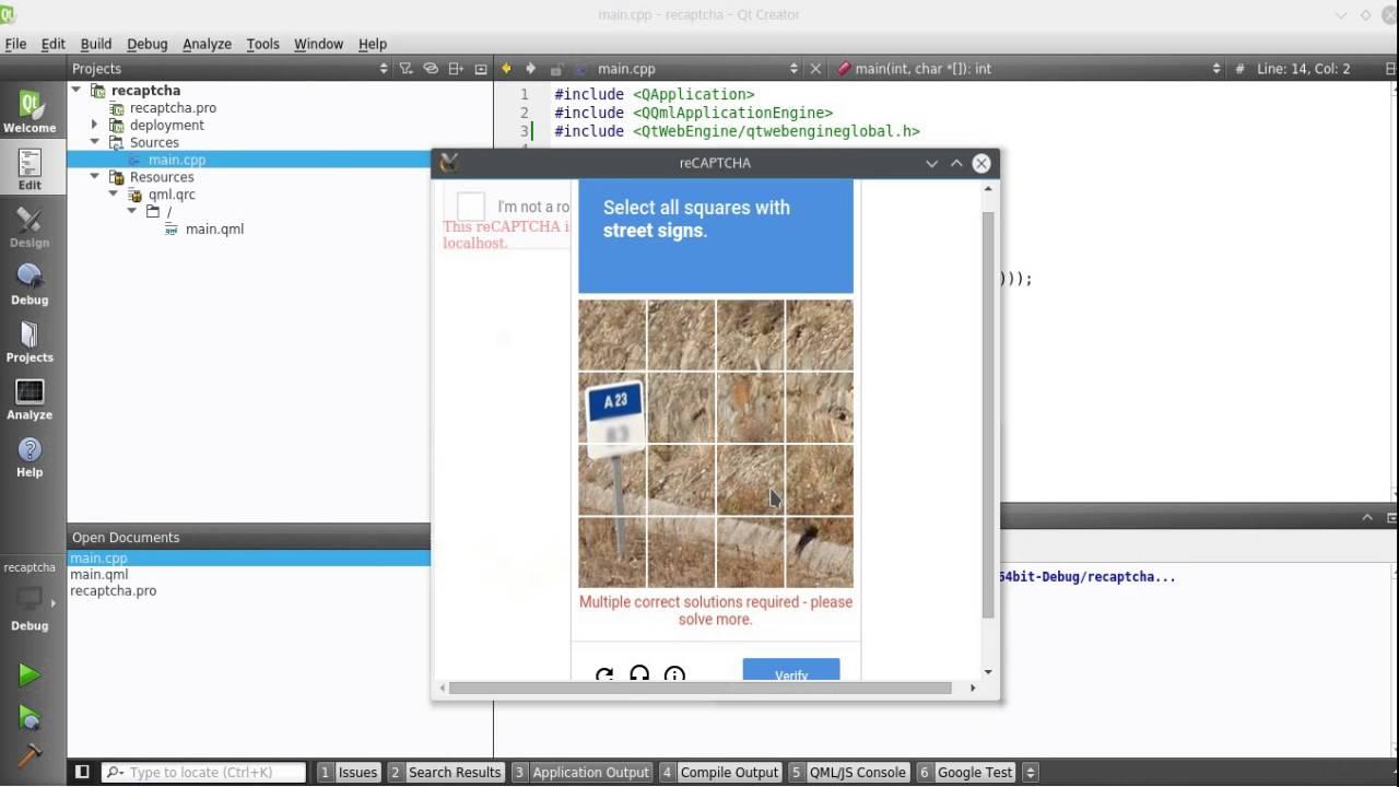 Google's reCAPTCHA in desktop app