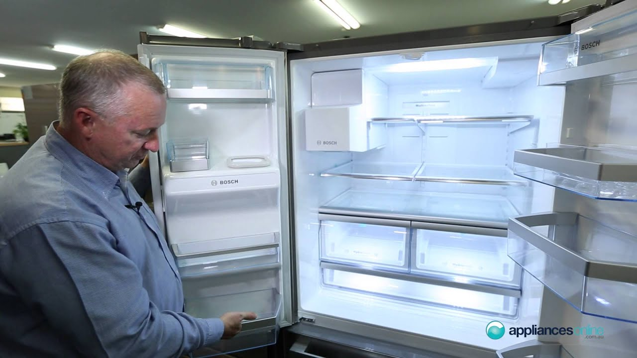 Bosch French Door Kühlschrank : L bosch side by side fridge kfn pj a reviewed by product