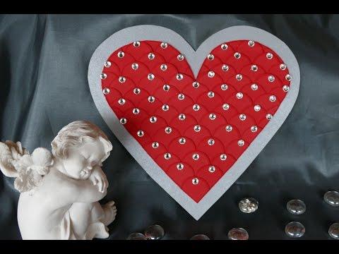 DIY Herz basteln aus Papier – Geschenk basteln – Hochzeit, Muttertag, Valentinstag, Geburtstag