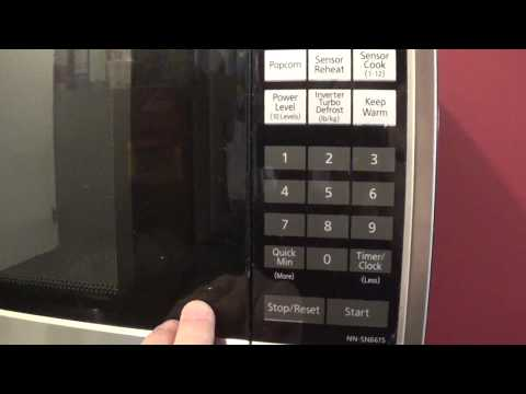 how-to-set-the-clock-on-a-panasonic-microwave-(2-types)