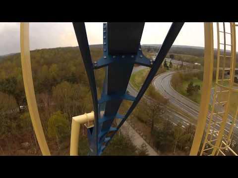 Oziris POV Parc Asterix 2012 Roller Coaster Onride Front Seat View Paris France