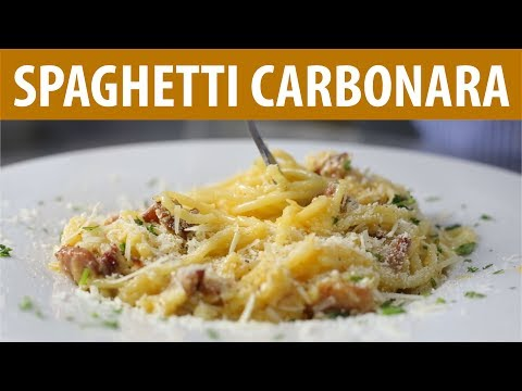 How to Make SPAGHETTI CARBONARA   Easy Dinner Ideas   Cooking Recipes
