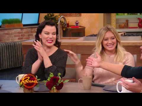 Hilary Duff, Nico Tortorella, Debi Mazar on Rachael Ray   October 2016