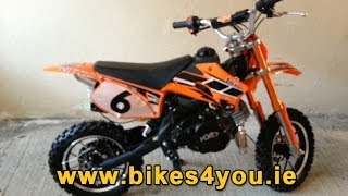 KXD 50cc 4 Stroke Mini Dirt Pit Bike Scrambler