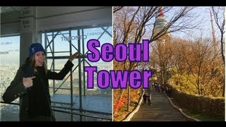 Views from the Observation deck of N Seoul Tower (Namsan Tower - CJ Seoul Tower - 서울타워)