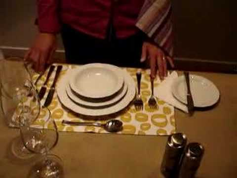 how to set a beautiful dinner table youtube. Black Bedroom Furniture Sets. Home Design Ideas