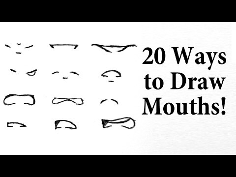 How To Draw Manga Mouths