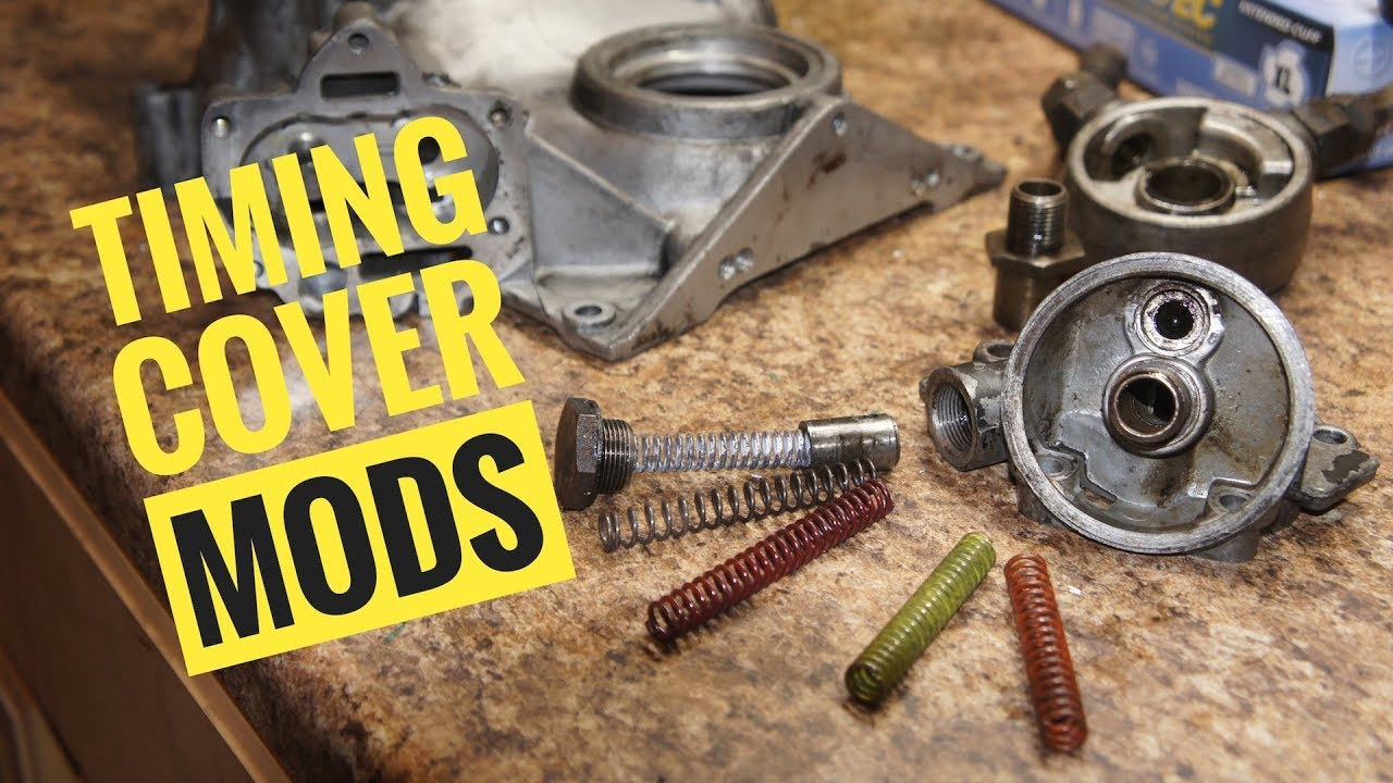 How the Buick Timing Cover/Oil pump works and some modifications