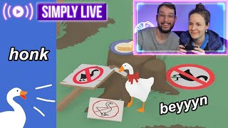 Two Canadian geese play Untitled Goose Game 🔴LIVE *honk honk*