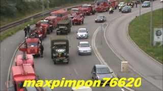 Défilé anciens véhicules Sapeurs Pompiers & Militaire