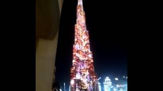 DUBAI BURJ KHALIFAH  WORLD RECORD LED PROJECTION