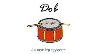 Hangszer ovi - Aki nem lép egyszerre (pergődob) / Hungarian children song (cat, cow, dog, animal)