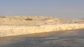 قناة السويس الجديدة: انهيارجسور الرمال فى طريق الكراكة الصديق بورسعيد