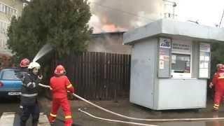 Incendiu la un restaurant din Bucuresti, langa Pasajul Basarab