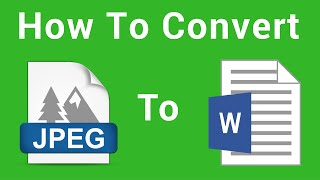 How To Convert Image To Text  Using Google Docs (JPEG to DOCX)