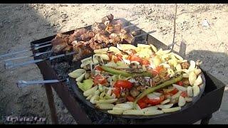 Семейный ужин в Говсанах. Садж, шашлык и Азербайджанское гостеприимство.