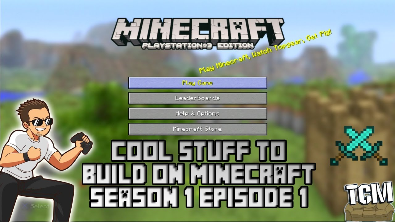PS3 MINECRAFT: COOL STUFF TO BUILD PART 1 - YouTube