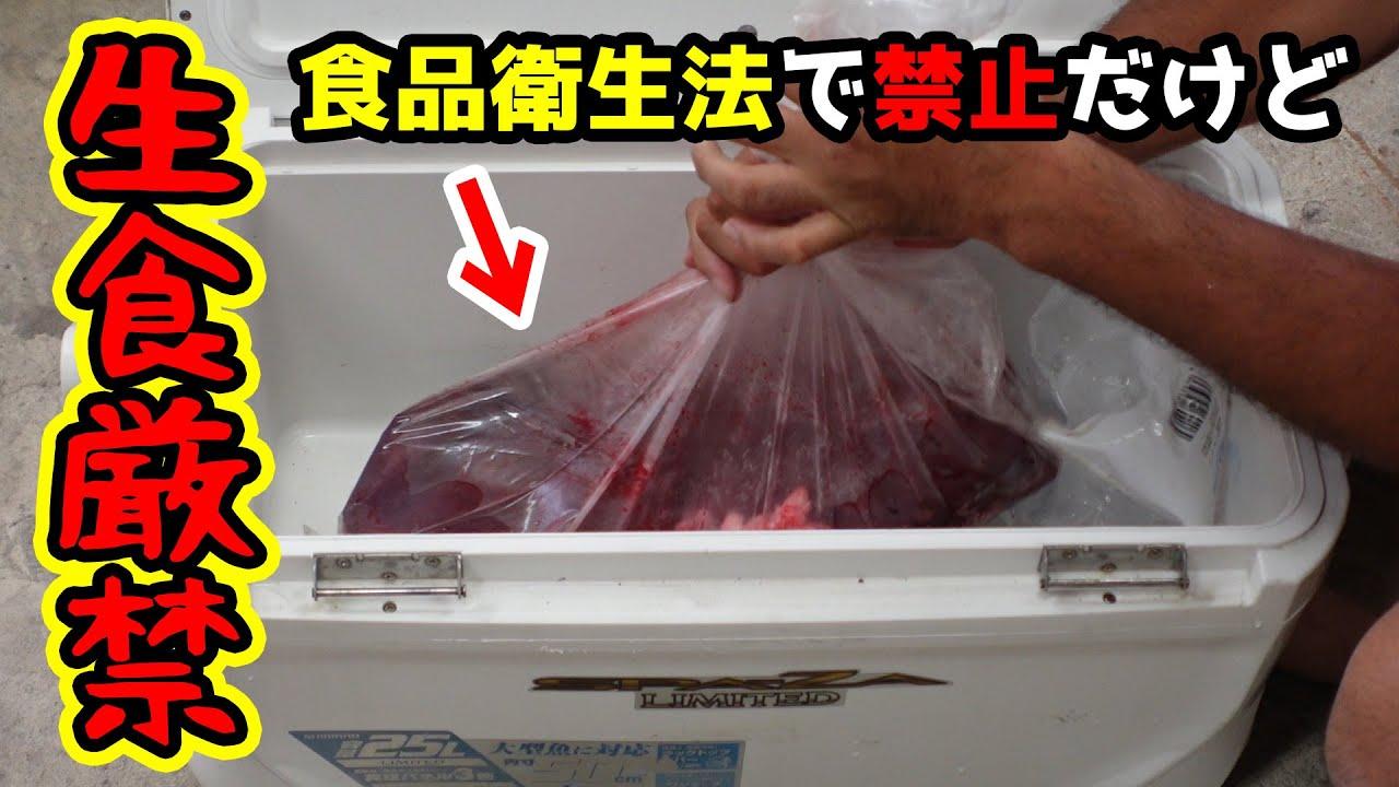 【閲覧注意】魚がまったく釣れないから法律で禁止されている〇〇〇を食べてみた!