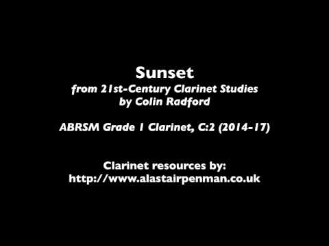 Sunset from 21st-Century Clarinet Studies by Colin Radford