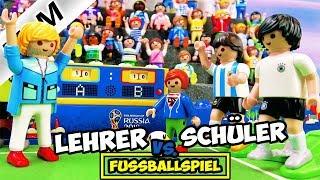Playmobil Film Deutsch LEHRER VS. SCHÜLER: FUSSBALLSPIEL DES JAHRES! JULIAN MIT MESSI! Familie Vogel