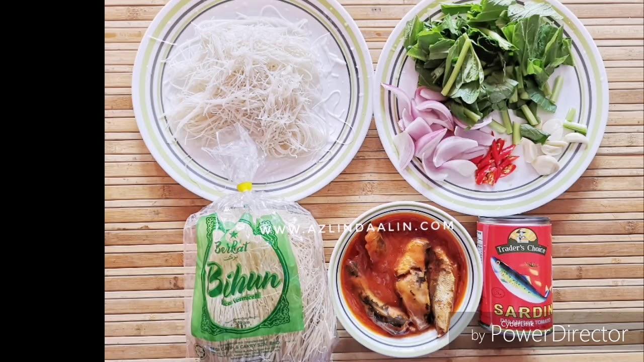Resepi Mudah Masak Bihun Goreng Sardin Trader's Choice - YouTube