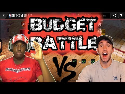NBA LIVE MOBILE BUDGET BATTLES VS BOBBY BUCKETS AND 4KATOSH GAMING!!!