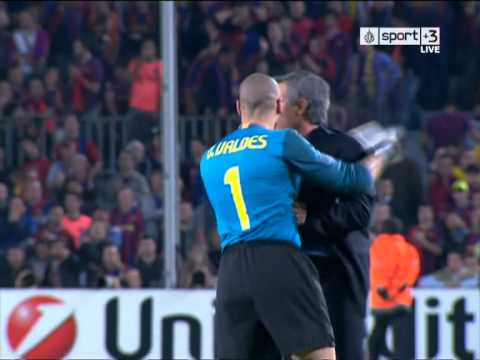 Mourinho Epic Celebration - Barcelona Vs Inter (28.04.2010)