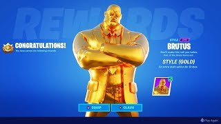 UNLOCKING GOLD BRUTUS in Fortnite! (SEASON 2)