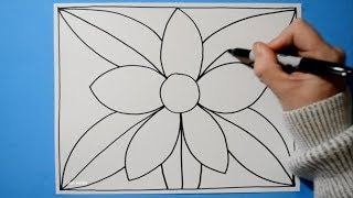 Spiral Drawing #187 / 3D Flower Pattern / Line Illusion / Satisfying / Daily Art Therapy