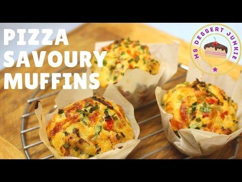 PIZZA SAVOURY MUFFIN RECIPE  | MsDessertJunkie