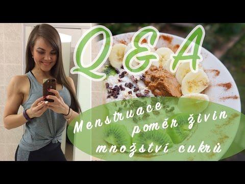 Q&A | Menstruace, jak si nastavit živiny, kolik jíst cukru, jíst po 18.h?