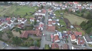 Drone footage of Mackenbach Germany