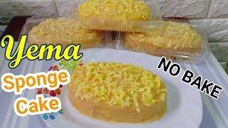 No Bake Yema Sponge Cake | How to Make Yema Sponge Cake Without Oven
