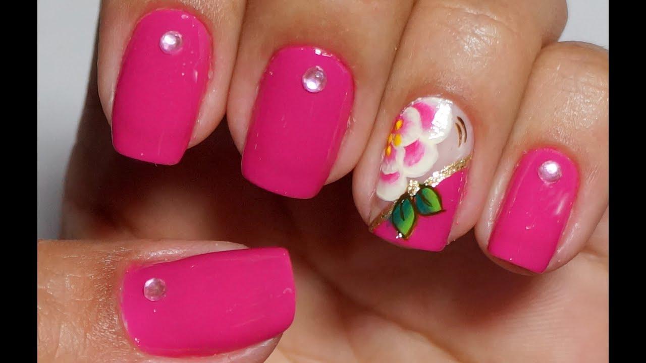 Unhas de Flores (Rosas) Rosa