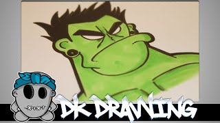"How to draw my new graffiti character ""The Hulk"" Part 6"