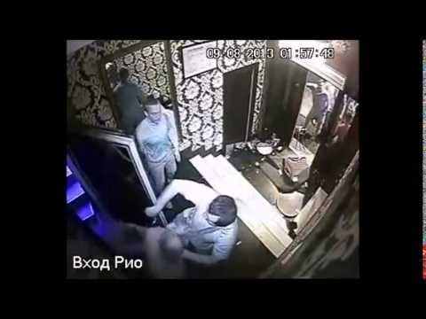 Fight in russian club - nice brawl