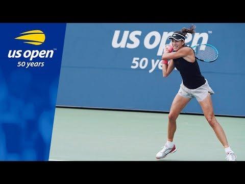 Garbiñe Muguruza Defeats Shuai Zhang in Day 1 of the 2018 US Open