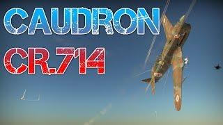 War Thunder - Myśliwiec Caudron CR.714 - Bitwy Realistyczne (Zagrajmy PL Gameplay)