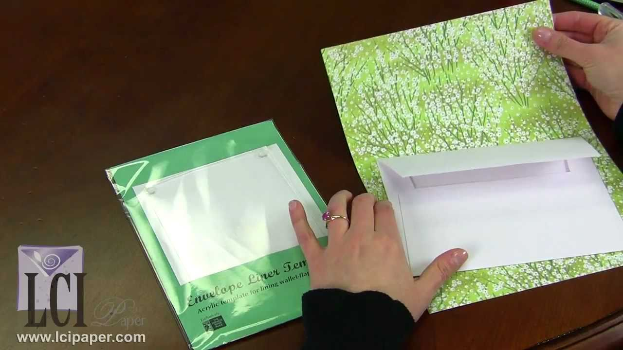 Envelope Liner Template Simplifies Making Custom Lined Envelopes