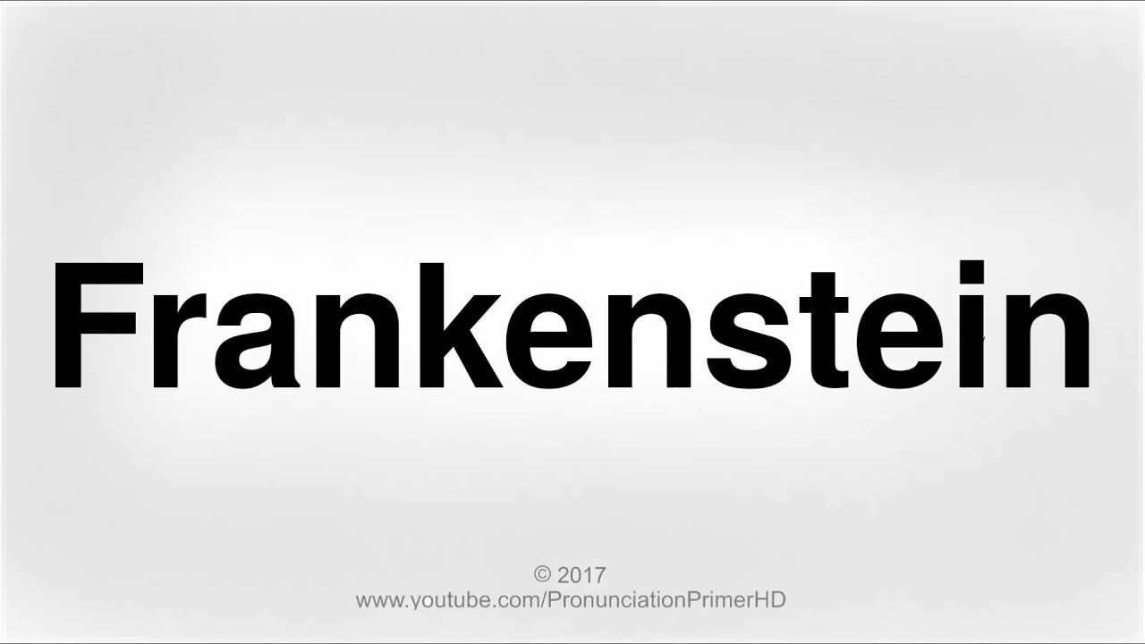 how to pronounce frankenstein | halloween special playlist