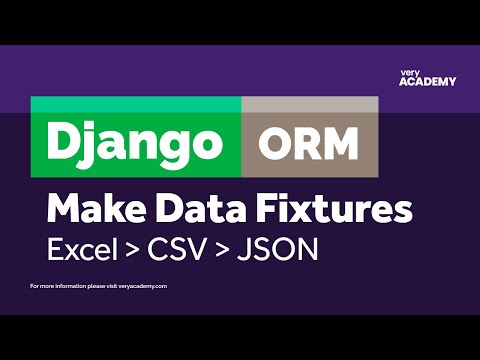 Create Django Fixtures from Excel/CSV File